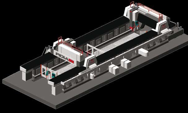 Y2G – Dvou portálové frézovací centrum GTF